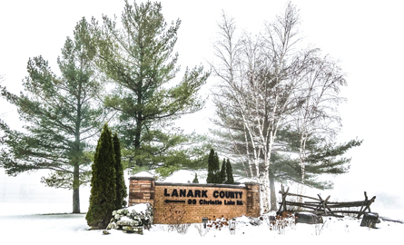 Lanark County sign on Christie Lake Road