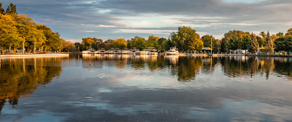 Rideau Canal in the Town of Smiths Falls