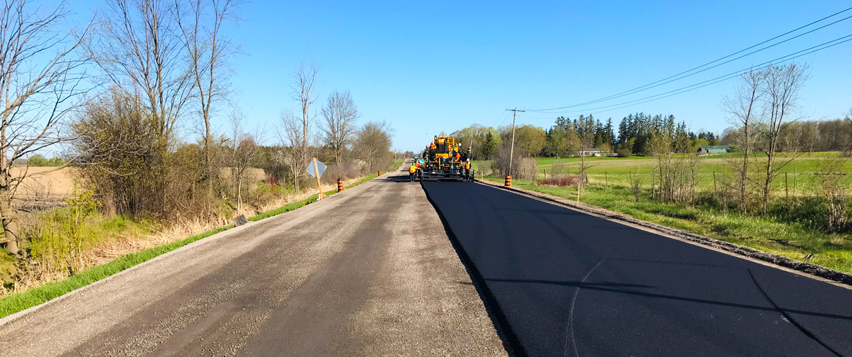 A road being paved
